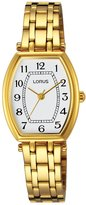 Lorus Women's RG202M Gold-Plated Tonneau Wrist Watch