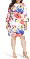Tahari Plus Size Women's Floral Print Shift Dress