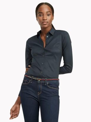 Tommy Hilfiger Regular Fit Essential Sateen Dress Shirt