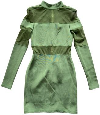Balmain Green Cotton - elasthane Dress for Women