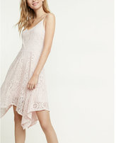 Express Lace Hi-lo Fit And Flare Dress