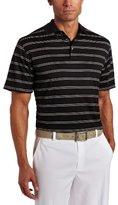 PGA TOUR Men's Short Sleeve Needle-out Striped Polo Shirt
