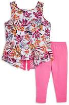 Splendid Girls' Tropical Print Top & Leggings Set - Little Kid