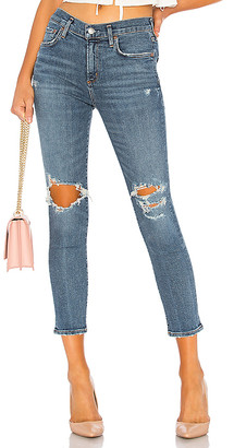 A Gold E Agolde AGOLDE Sophie High Rise Skinny Crop