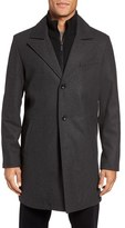 Kenneth Cole New York Men's Bib Inset Wool Blend Coat