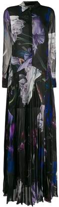 Roberto Cavalli floral long shirt dress