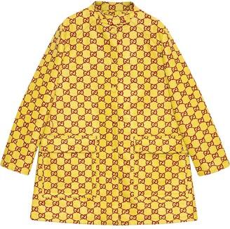 Gucci GG Supreme single-breasted coat