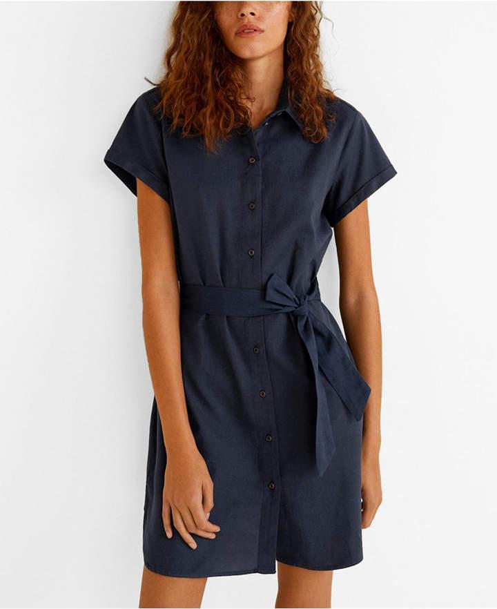 MANGO Short Shirt Dress