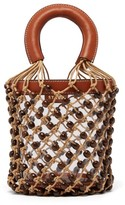 STAUD Moreau Macrame & Pvc Bucket Bag - Womens - Brown Multi