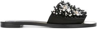 Lanvin crystal strap sandals