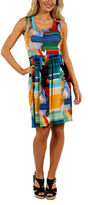 24/7 Comfort Apparel French Watercolor Shift Dress