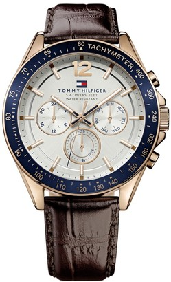 Tommy Hilfiger Luke Chronograph Watch Brown