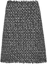 Giambattista Valli Sequin-embellished frayed tweed mini skirt