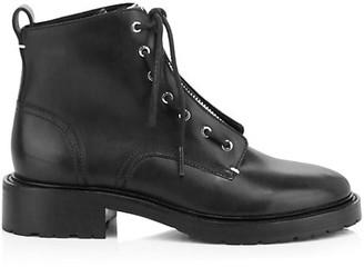 Rag & Bone Cannon Zip-Up Leather Combat Boots