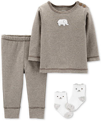 Carter's Carter Baby Boys & Girls 3-Pc. Top, Pants & Socks Cotton Set