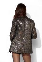 Urban Outfitters Ecote Ringmaster Metallic Jacquard Blazer