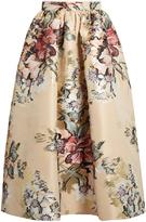 Fendi Floral fil coupé midi skirt