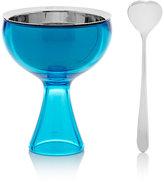 "Alessi Big Love"" Ice Cream Bowl & Spoon-Blue"