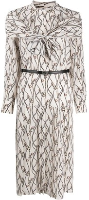 Salvatore Ferragamo Gancini tassel print dress