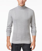Alfani Men's Regular Fit Texture Turtleneck Sweater, Only at Macy's