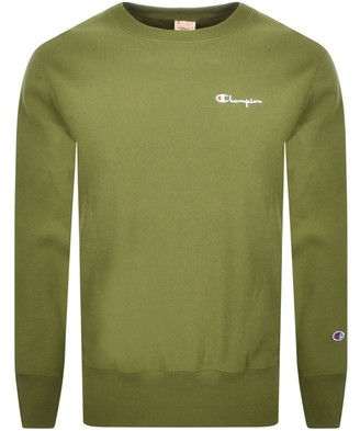 Champion Crew Neck Logo Sweatshirt Green