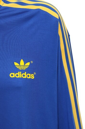 Thumbnail for your product : adidas 70s 3 Stripes Cropped Long Sleeve Polo