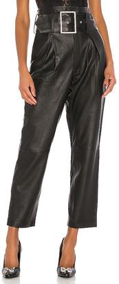 GRLFRND Beatrice High Waist Leather Pants