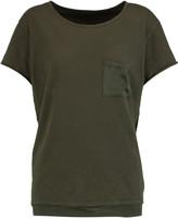 RtA Isabelle silk-trimmed cotton-jersey T-shirt