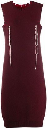 Maison Margiela Twisted Thread Detail Knitted Dress