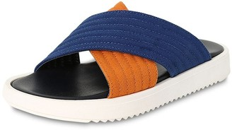 Marni Junior Canvas & Leather Slide Sandals