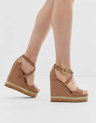 Kurt Geiger London Alina wedge sandals-Beige