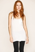 Division E Slub Slouchy Pocket Weekend Tank In White