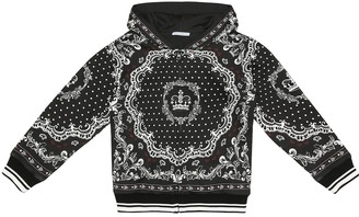 Dolce & Gabbana Kids Printed cotton hoodie