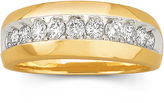 JCPenney FINE JEWELRY Mens Diamond Band 1 CT. T.W. 10K