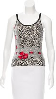Blumarine Sleeveless Dual Print Top