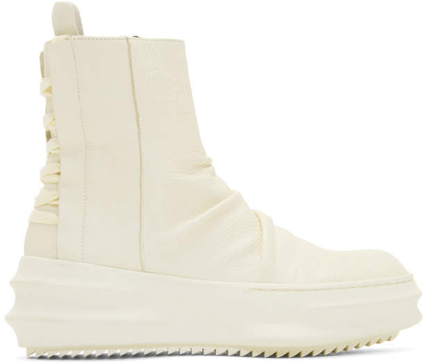 D.gnak By Kang.d Off-White Back String High-Top Sneakers