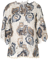 See by Chloé Floral Embroidered Lace Top