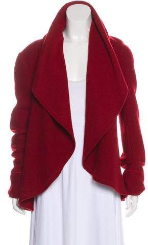 148 Wool Draped Coat
