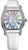 Juicy Couture Women's 1901086 Dalton White Embossed Leather Strap Watch