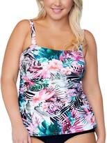 Thumbnail for your product : Raisins Curve Trendy Plus Size Protea Haute Bloom Printed Tankini Top Women's Swimsuit