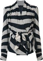 Gareth Pugh striped belted blazer