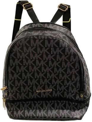 Michael Kors Black Plastic Backpacks