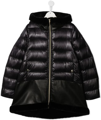 Herno TEEN quilted hooded coat