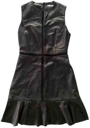 MANGO Black Leather Dress for Women