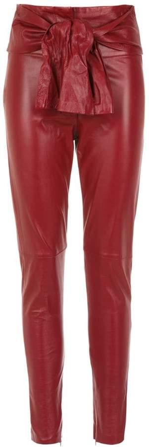 22d62ab39d Red Leather Pants - ShopStyle