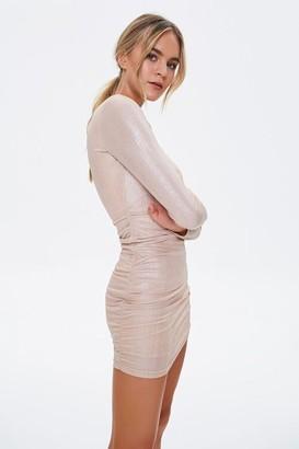 Forever 21 Bodycon Long-Sleeve Mini Dress