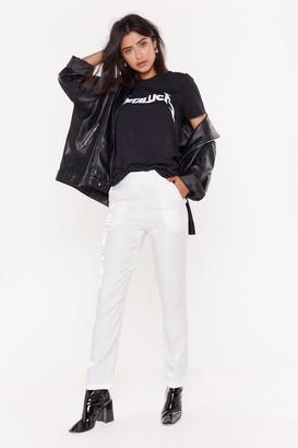 Nasty Gal Womens Suit Up Slim Trousers - Black - L, Black