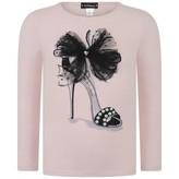 Kate Mack Kate MackGirls Pink Embellished Shoe Top