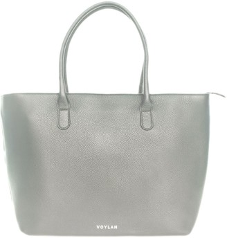 Voylan Manhattan Tote In Light Grey