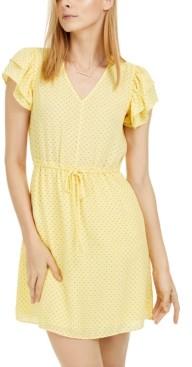 Maison Jules Printed Drawstring-Waist Dress, Created for Macy's